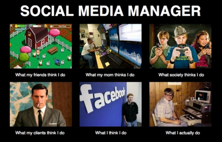 Social Media manager facebook twitter instagram computer