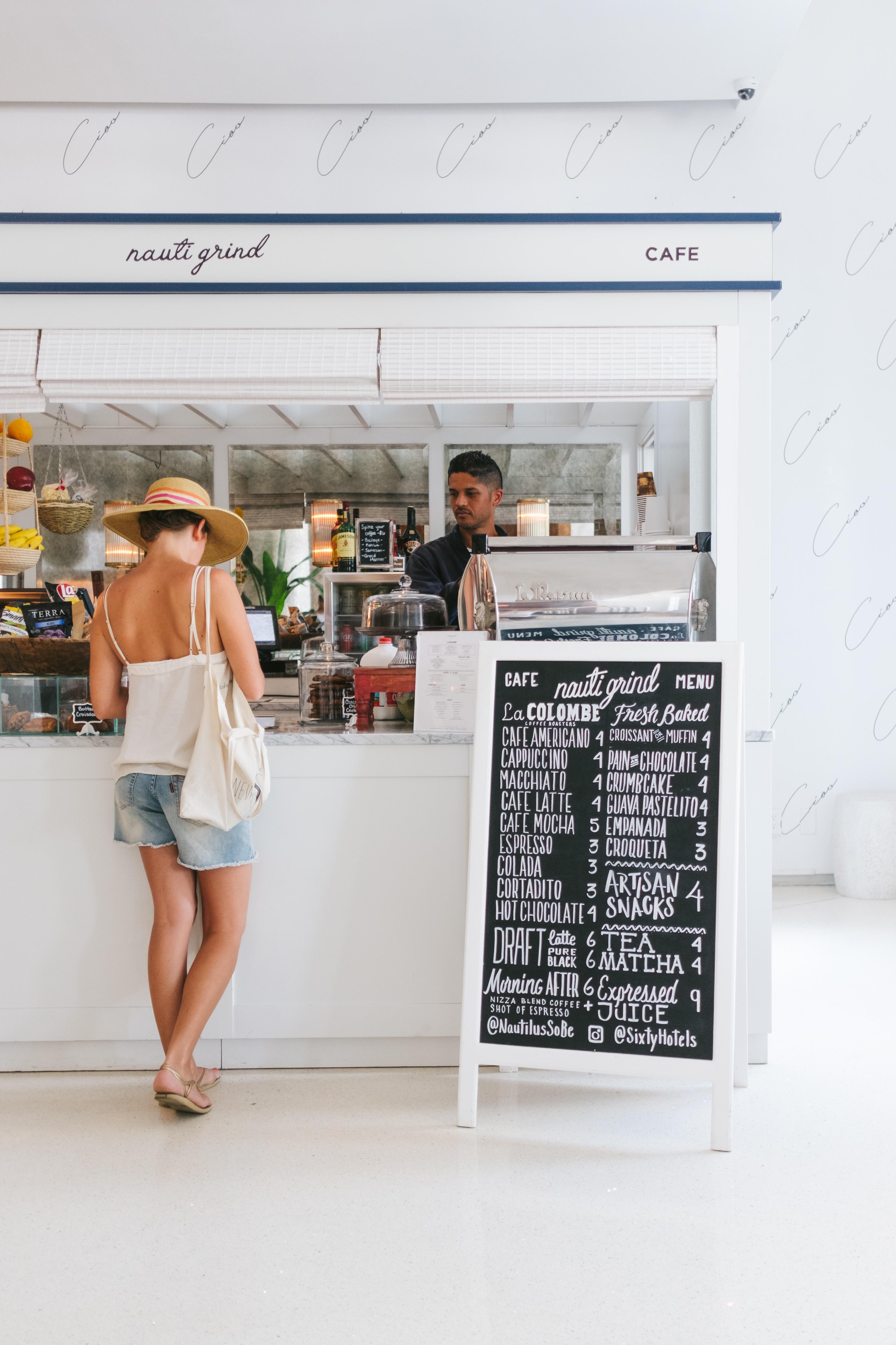 Small business cafe social media facebook digital marketing