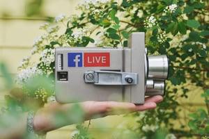 Facebook live content engagement social media digital marketing business