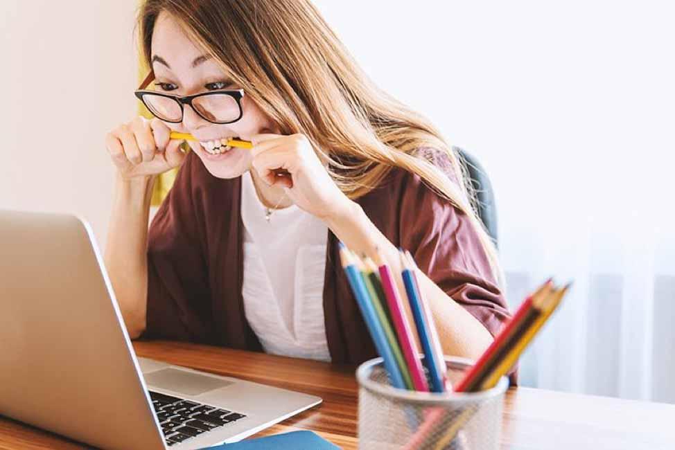 Unsplash Photo   Woman Biting Pencil